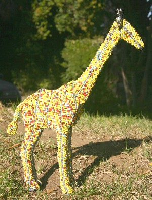 Beaded Wire Yellow Giraffe