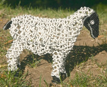 Lovely Curly Coated Beaded Wire Sheep