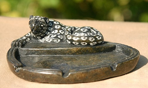 Leopard Ashtray or Soapdish