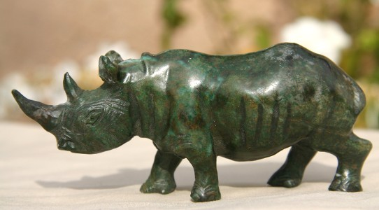 Dark Green Verdite Rhino